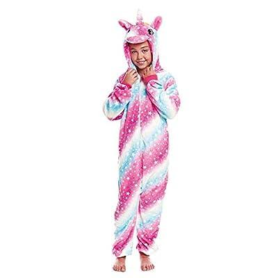 Pijamas Enteros de Animales Niñas y Niños Unisex?Tallas Infantiles 3 a 12 años? Disfraz Pijama Unicornio Niña Cósmico Mono Enterizo Carnaval Fiestas?Talla 10-12 años?
