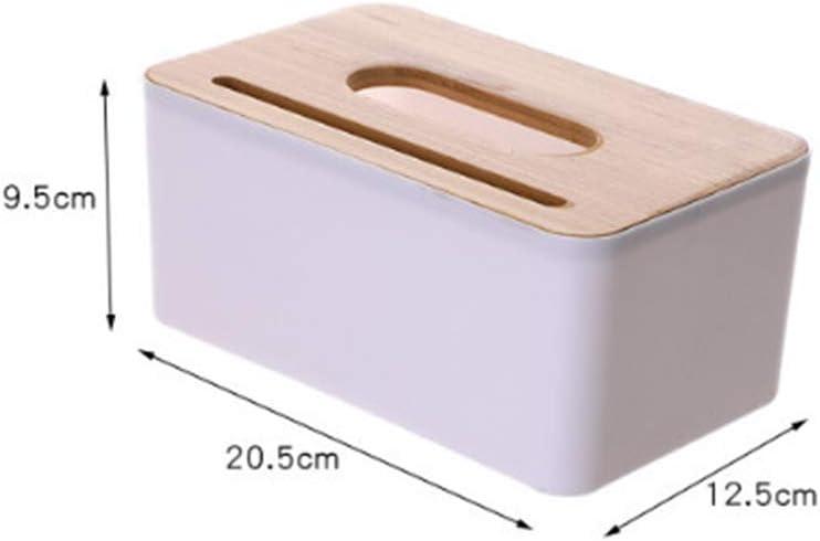 DishyKooker Casa Tissue Box Home Multifuncional Almacenamiento Sal/ón Mesa de caf/é Madera Servilletero Art/ículo