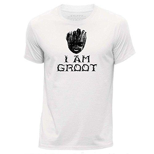 Stuff4 Herren/X groß (XL)/Weiß/Rundhals T-Shirt/I Am Groot