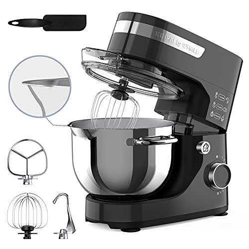 Stand Mixer, whall 12-Speed Tilt-Head Kitchen Mixer, Electric Food Mixer with Dough Hook/Wire Whip/Beater, 4.5QT Stainless Steel Bowl, for Baking Bread,Cakes,Cookie,Pizza,Egg,Salad