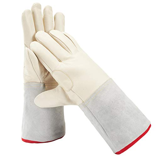 Mufly Mid-arm Cryogenic Gloves Waterproof MA Work Protective Gloves Liquid Nitrogen Frozen Gloves Cold Storage for Extremely Cold Environment,13.7'' (35cm)