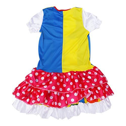 LUOEM 1 Set Disfraz de Payaso para Mujer Halloween Cosplay Joker Suit Party Dress up Ropa de Payaso para Accesorios de Rendimiento del Festival (Color Variado)