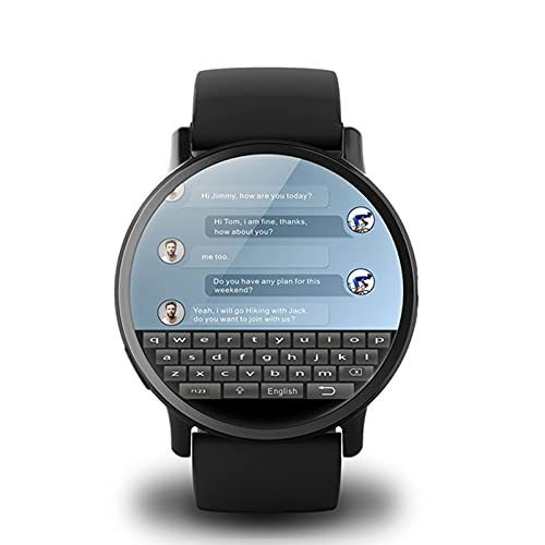 QIXIAOCYB Montre Intelligent 4G Hommes WiFi GPS avec SIM Carte 8MP Caméra de fréquence Cardiaque et la Pression artérielle Mode de Surveillance des Sports Multiples Visionnez