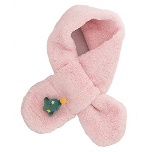 October Elf Sciarpa invernale di Natale Regalo per sciarpe calde per bambini o donne (Albero di Natale rosa)
