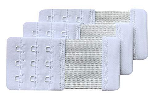 Chanie Damen Packung mit 3 Weich Komfortabel Erweiterung 3 Haken BH-Verlängerer, 10cm x 4,7cm