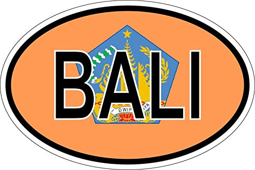 Akachafactory Sticker ovale vlag vinyl landcode Bali Indonesië