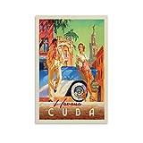 WERTF Vintage-Reise-Poster Havanna, Kuba,