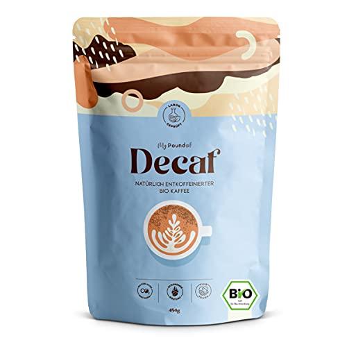 Natürlich Entkoffeinierte Bio Kaffee-Bohnen ganz - My Pound Of Decaf - Single Origin aus Kolumbien - Ideal für Vollautomaten und Siebträger - Ganze Bohne (454g)