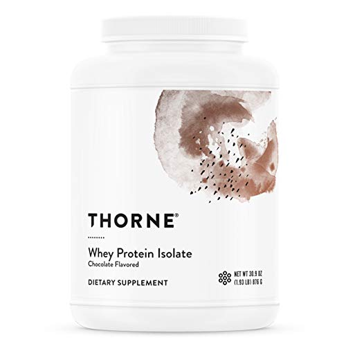 Thorne Research - Whey Protein Isolate (Chocolate Flavor) - Easy-to-Digest Whey Protein Isolate Powder - NSF Certified for Sport - 30.9 oz