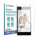 smartect Schutzglas kompatibel mit Sony Xperia Z5 [Vorne & Hinten] - Tempered Glass mit 9H Festigkeit - Blasenfreie Schutzfolie - Anti-Kratzer Bildschirmschutzfolie
