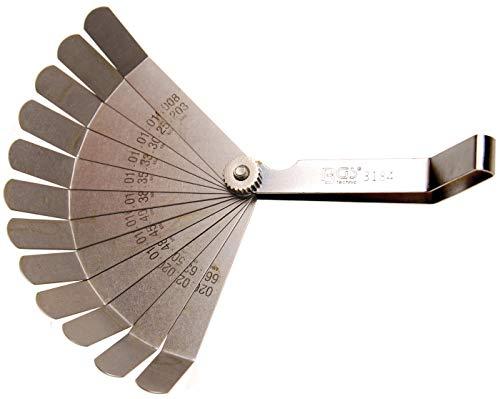 BGS 3184 | Juego de galgas de precisión, curvadas | 12 piezas