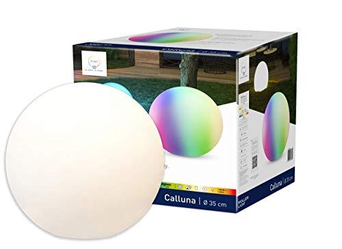 tint von Müller-Licht smarte LED Outdoor Leuchtkugel Calluna mit E27-Fassung, white-color (Weißtöne und farbiges Licht), Ø35 cm, 9.5 W, Zigbee, Kompatibel mit Alexa, inkl. Erdspieß