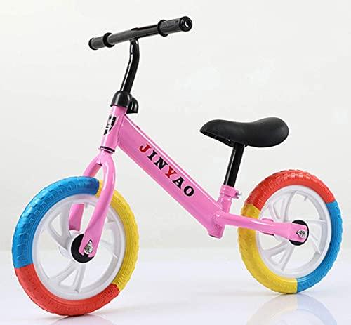 WYJW Bicicleta de Equilibrio Ligera - Bicicleta de Entrenamiento sin Pedales con Altura de Asiento Ajustable para Edades de 2 a 6 años Juguetes para Interiores y Exteriores