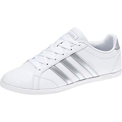 Adidas Coneo Qt, Zapatillas Mujer, Blanco (Footwear White/Matte Silver/Footwear White 0), 39 1/3 EU
