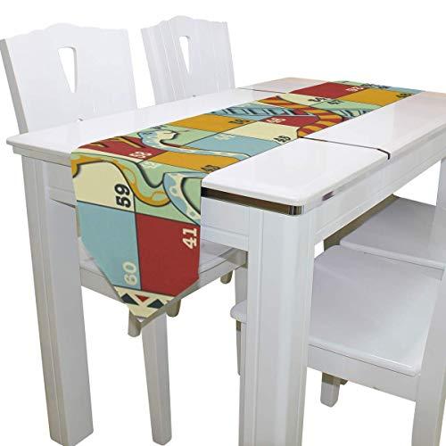 N/A Eettafel Runner Of Dresser Sjaal, Het spel van Snake Deck Tafelkleed Runner Koffie Mat voor Bruiloft Partij Banket Decoratie 13 x 90 inch