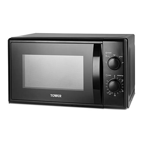Tower T24034BLK Microwave with 5 Power Levels and 35 Minute Timer, 20 Litre Capacity, 700 Watts, Black