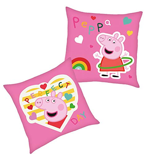 Peppa Perfect | Kinder Kissen 40 x 40 cm Wutz Pig | Dekokissen