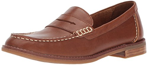 Sperry Womens Seaport Penny Loafer, Tan, 9.5