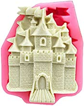 Castle Modeling Fondant Sugarcraft Cake Mould DIY 3D Soap Fimo Clay Tools Silicone Molds For Cake Baking