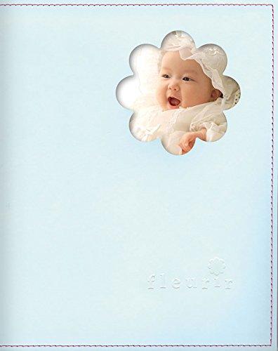 育児日記 ダイアリー うぶごえ アルバム フルリール 【妊娠~1才まで】 (ブルー)