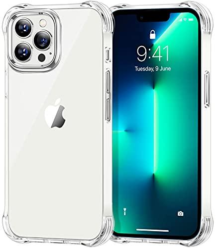 Cocoda Funda Compatible con iPhone 13 Pro MAX (2021), Fundas Antigolpes y Anti- Arañazos, Anti-Amarilleo Carcasa Protectora con Parachoques de TPU Suave Flexible, 6.7 Pulgadas y Transparente