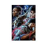 ASDKJ Hip-hop Rap in Chicano, West Coast Poster decorativo su tela da parete per soggiorno, camera da letto, 20 x 30 cm