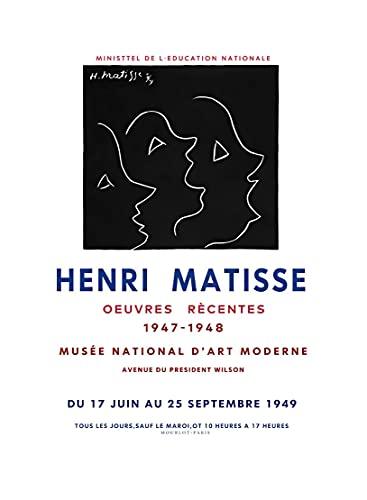 Matisse color block mujer paloma cara arte de la pared carteles e impresiones nórdico moderno familia sin marco lienzo pintura A3 60x90cm