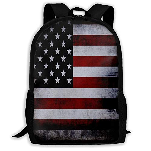 Oswz American Flag Pattern Travel Backpack Insulated Soft Lunch Cooler for Men Women, Best for Picnic, Hiking, Travel, Beach, Sports, Work
