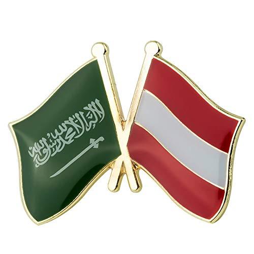 Flagge Laple Pin Abzeichen Brosche Saudi-Arabien Kokosnussbaum Japan Yeman Estland Österreich Bulgarien Deutschland Russland Niederlande Gabun