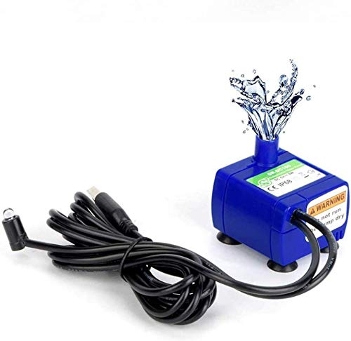Submersible Electric Water Pump with LED Light, Low Power Consumption Motor Replacement Pump Compatible with Pet Drinking Water Fountain