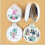 Flamingo Travel Plegable Peine Espejo cepillos para el Cabello Airbag Masaje Plegable de Bolsillo Mini-Redonda fácil Tomar Peine Cepillo de Pelo