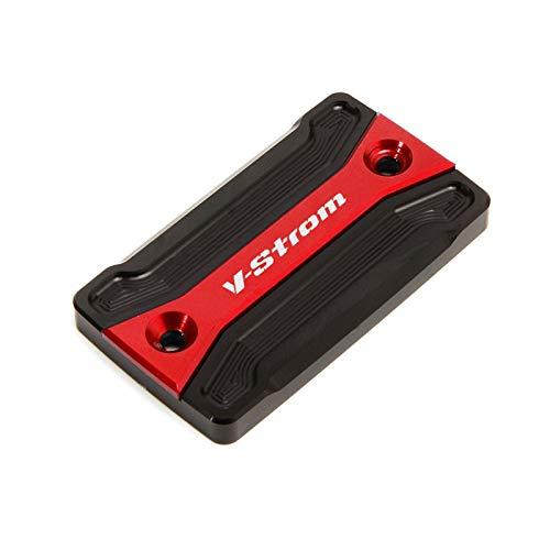 HNJZLU para Suzuki V-Strom DL250 2017-2019 DL650 2004-2020 DL1000 2002-2018 Tapa del Depósito De Líquido De La Tapa del Cilindro De Freno Delantero (Color : Rojo)