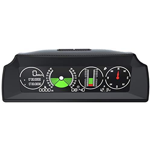 AUTOOL GPS Speed Slope Meter,Digital Inclinometer Level and Angle Gauge Bevel Gauge Tilt Gauge Finder Gauge Slope Meter with Compass for OBDII 12V Car/SUV/RV/Truck/Trailer Off-Road Vehicle