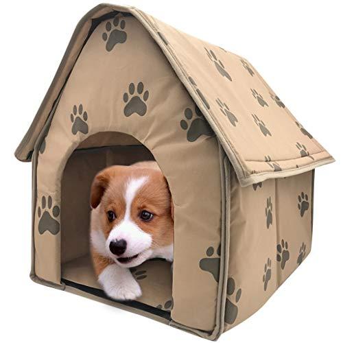 HMG 2 PCS casa de Perro Plegable Pequeña Huella Carpa Cubierta Cama Portable Trave Mascotas