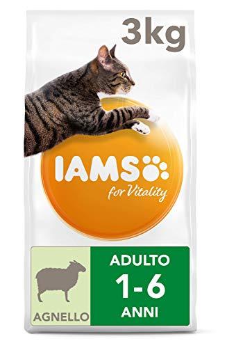 Iams for vitality alimento secco per gatti adulti con Agnello - 3 kg