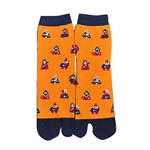 Black Temptation Lot de 2 Paires de Chaussettes de Style Japonais à Deux Orteils Style Kimono, 02