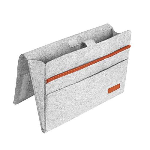 rongweiwang Bedside Storage Pocket Felt Hanging Organizer Bag Bag Home Sofa Magazine Phone Remote Holder for Home Bed Rails
