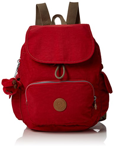 Kipling Damen City Pack S Rucksack, Rot (True Red C), 27 x 33.5 x 19 cm