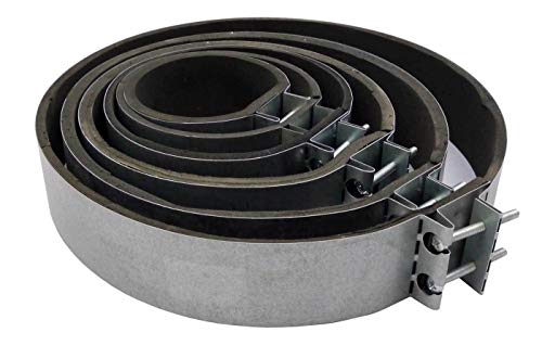 UDOPEA Befestigungsmanschette, Rohrschelle BZW.Verbindungsmanschette für Rohrlüfter Rohrventilatoren Lüfteranlagen Klimageräten (Ø 160mm)