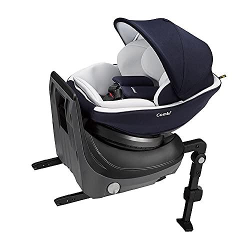 Combi(コンビ) ISOFIX固定 新生児対応チャイルドシート 新生児から4才頃 クルムーヴ スマート Light ISOFIX エッグショック ネイビー 厚みが増したヘッドガード