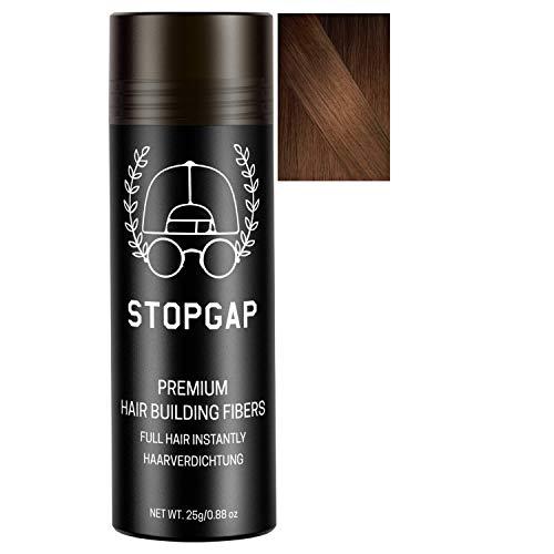 STOPGAP Haarpuder mit Soforteffekt in Premium Qualität - Das Streuhaar füllt lichtes Haar perfekt - Bei Haarausfall für Volumen - Haarverdichtung ideal für Männer und Frauen (Braun)