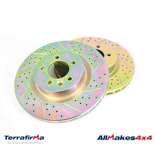 FRONT BRAKE ROTOR DISC SET x2 RANGE SPORT LR4 SDB000624CDG TF