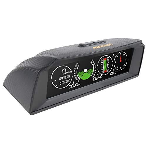 Autool X90 Smart GPS-Neigungsmesser Auto Kopfanzeige Smart Digital Meter Alarm Geschwindigkeit, Höhe, Richtung, Neigung, Zeit, Spannungsunterstützung 12-V-OBDII-Fahrzeuge
