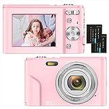 Compactas Cámaras Digitales 2,4 Pulgadas 1080P 36 Megapíxeles HD Camara Fotos Recargable Cámara para de Bolsillo...