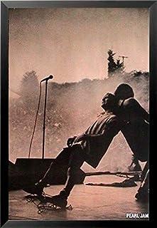69266c39a6d Buyartforless Framed Pearl Jam Eddie Vedder Live on Stage Back to Back  36x24 Music Art Print