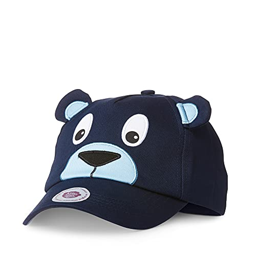 Affenzahn Unisex– Babys Bär Baseball Cap, Blau, S