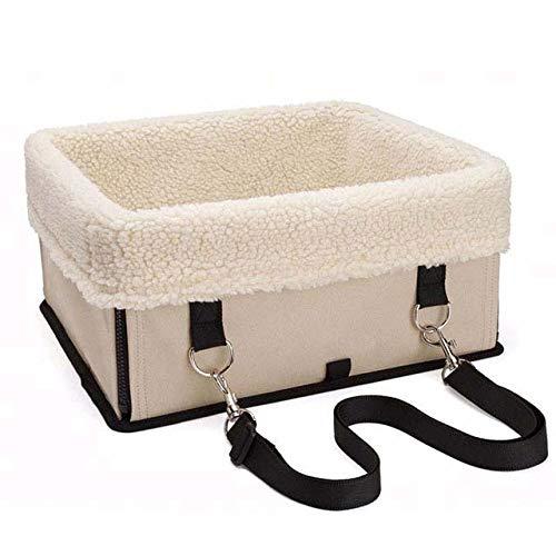 SHYSBV Opvouwbare veiligheidsstoel beugel huisdier hond auto veiligheid stoel beugel draagbare veiligheid multifunctionele reisbed waterdichte puppy, L, Beige