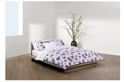 Calvin Klein Watercolor Bloom Duvet Cover Set, Full/Queen, Amethyst