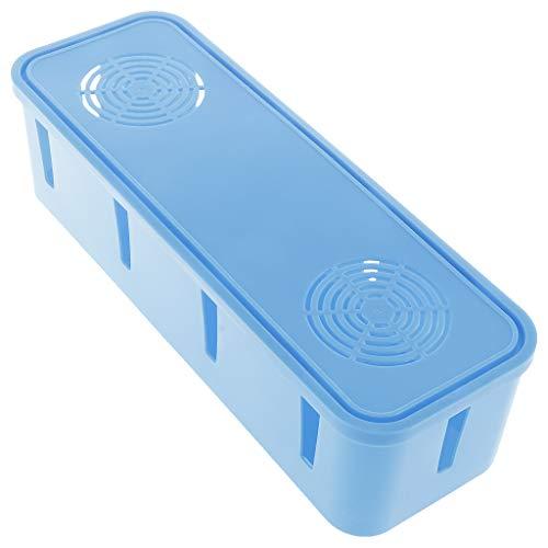 kowaku Sicherheitskabel Kabel Organizer Aufbewahrungsbox Steckdose Gehäuse Verstecken Sie Den Elektrischen Draht - Blau