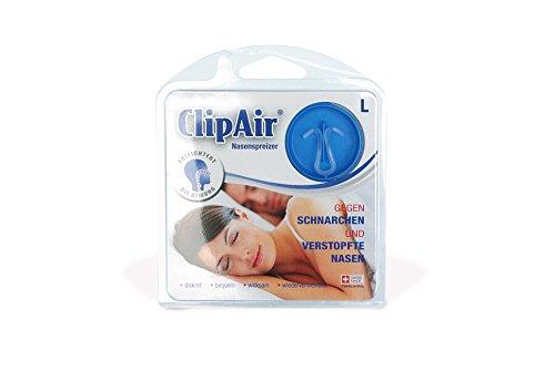 ClipAir esparcidor de la nariz - transparente - 1 unidad talla L (SomniShop Set N 100)